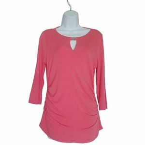 Vince Camuto Tops - Vince Camuto Peach Knit Long Sleeve Top